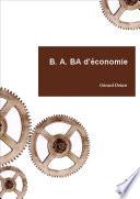 illustration B. A, BA d'économie