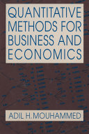 Quantitative Methods for Business and Economics