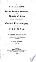 A Collection Of Acts And Records Of Parliament