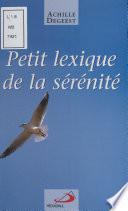 Petit Lexique De La S R Nit