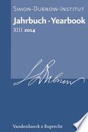 Jahrbuch des Simon-Dubnow-Instituts / Simon Dubnow Institute Yearbook XIII/2014