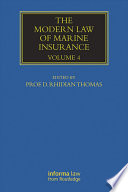 The Modern Law of Marine Insurance