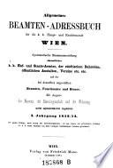 Allgemeines Beamten-Adressbuch für die k.k. Haupt- und Residenzstadt Wien
