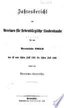 Jahresbericht des Vereins für Siebenbürgische Landeskunde, Hermannstadt