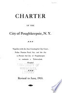 Charter of the City of Poughkeepsie  N Y