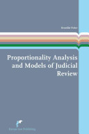 Proportionality Analysis and Models of Judicial Review