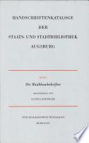 Handschriftenkataloge der Staats- und Stadtbibliothek Augsburg