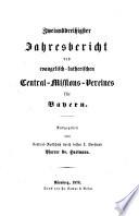Jahresbericht des Evangelisch-Lutherischen Central-Missions-Vereins für Bayern