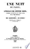 Une nuit de Paris  ou l ecole des jeunes gens  comedie vaudeville en 3 actes