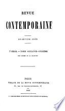REVUE CONTEMPORAINE  2 SERIE    TOME SOIXANTE   ONZIEME  PARIS BUREAUX DE LA REVUE CONTEMPORAINE  1869