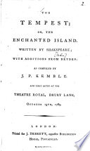 The Tempest  Or  the Enchanted Island