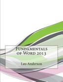 Fundamentals of Word 2013