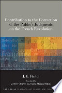 Contribution To The Correction Of The Public S Judgments On The French Revolution