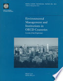 Environmental Management And Institutions In Oecd Countries