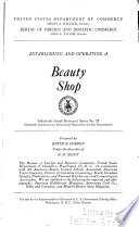 Establishing And Operating A Beauty Shop