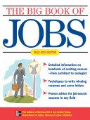 THE BIG BOOK OF JOBS 2012 2013
