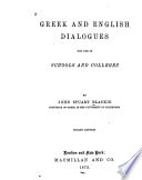 Greek and English Dialogues for Use in Schools and Colleges