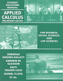 Applied Calculus  Student Solutions Manual