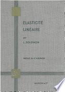 illustration du livre Elasticité linéaire