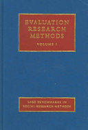 Evaluation Research Methods