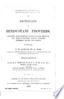A Dictionary of Hindustani Proverbs Book PDF