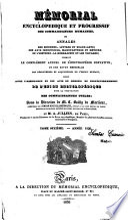 Memorial revue encyclop  dique des connaissances humaines