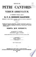 Patrologiae Cursus Completus  Series Latina