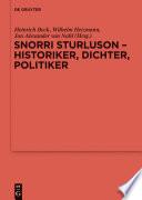 Snorri Sturluson Historiker Dichter Politiker