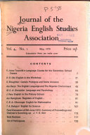 Journal of the Nigeria English Studies Association