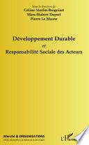 Développement durable et responsabilité sociale des acteurs
