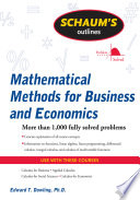 Schaum s Outline of Mathematical Methods for Business and Economics