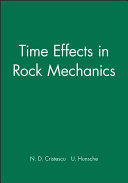 Time effects in rock mechanics