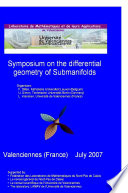 Symposium on the Differential Geometry of Submanifolds