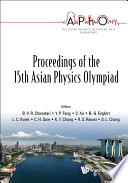 Proceedings of the 15th Asian Physics Olympiad