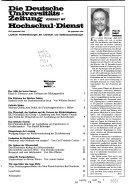 Die Deutsche Universita  tszeitung vereinigt mit Hochschul Dienst