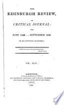 THE EDINBURGH REVIEW, OR CRITICAL JOURNAL FOR JUNE 18260....SEPTEMBER 1826.
