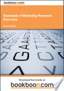 Essentials of Marketing Research  Exercises