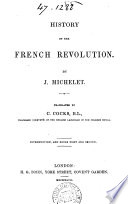 History of the French revolution  tr  by C  Cocks
