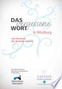 Das vergessene Wort in W  rzburg