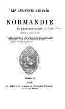 Les anciennes abbayes de Normandie