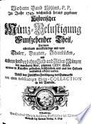 Johann David K  hlers  P P  Im Jahr 1743  w  chentlich heraus gegebener Historischer M  nz Belustigung