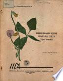 Bibliografia Sobre Frijol de Costa vigna Sinensis