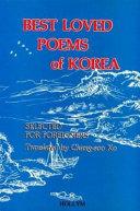 Best Loved Poems of Korea
