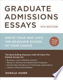 Graduate Admissions Essays  Fourth Edition