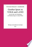 Gunther Ipsen zu Volk und Land