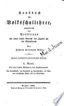 Handbuch f  r Volksschullehrer