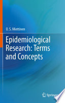 Epidemiological Research Terms And Concepts