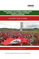 The Right to Food Guidelines, Democracy and Citizen Participation