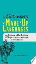 The Dictionary of Made Up Languages
