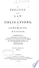 A Treatise On The Law Of Obligations Or Contracts book